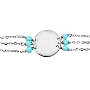 bracelet-acier-turquoise
