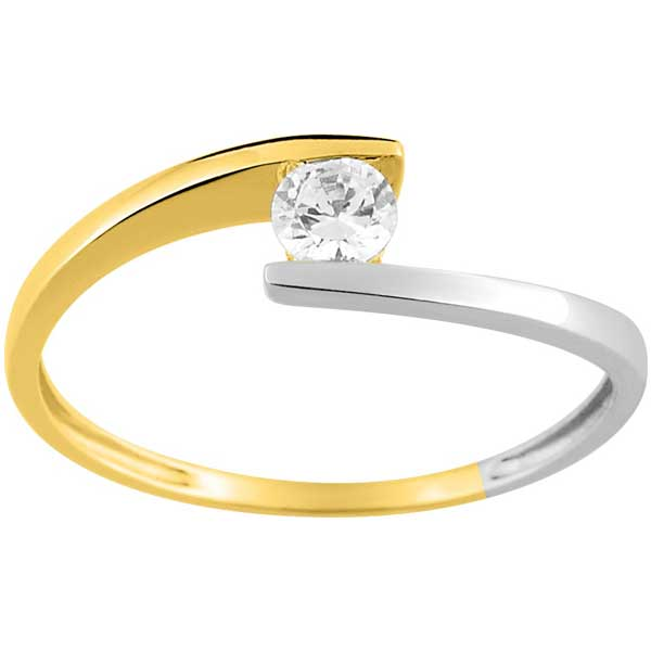 bague solitaire-or